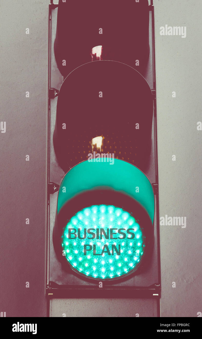 Close up on green traffic light with message BUSINESS PLAN. Motivational concept image with vintage filter applied & Close up on green traffic light with message BUSINESS PLAN Stock ... azcodes.com
