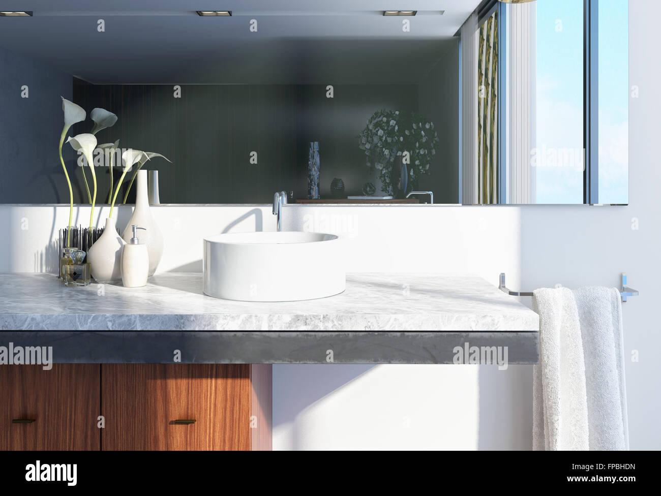 Modern Architectural White Home Washroom Interior Design with ...