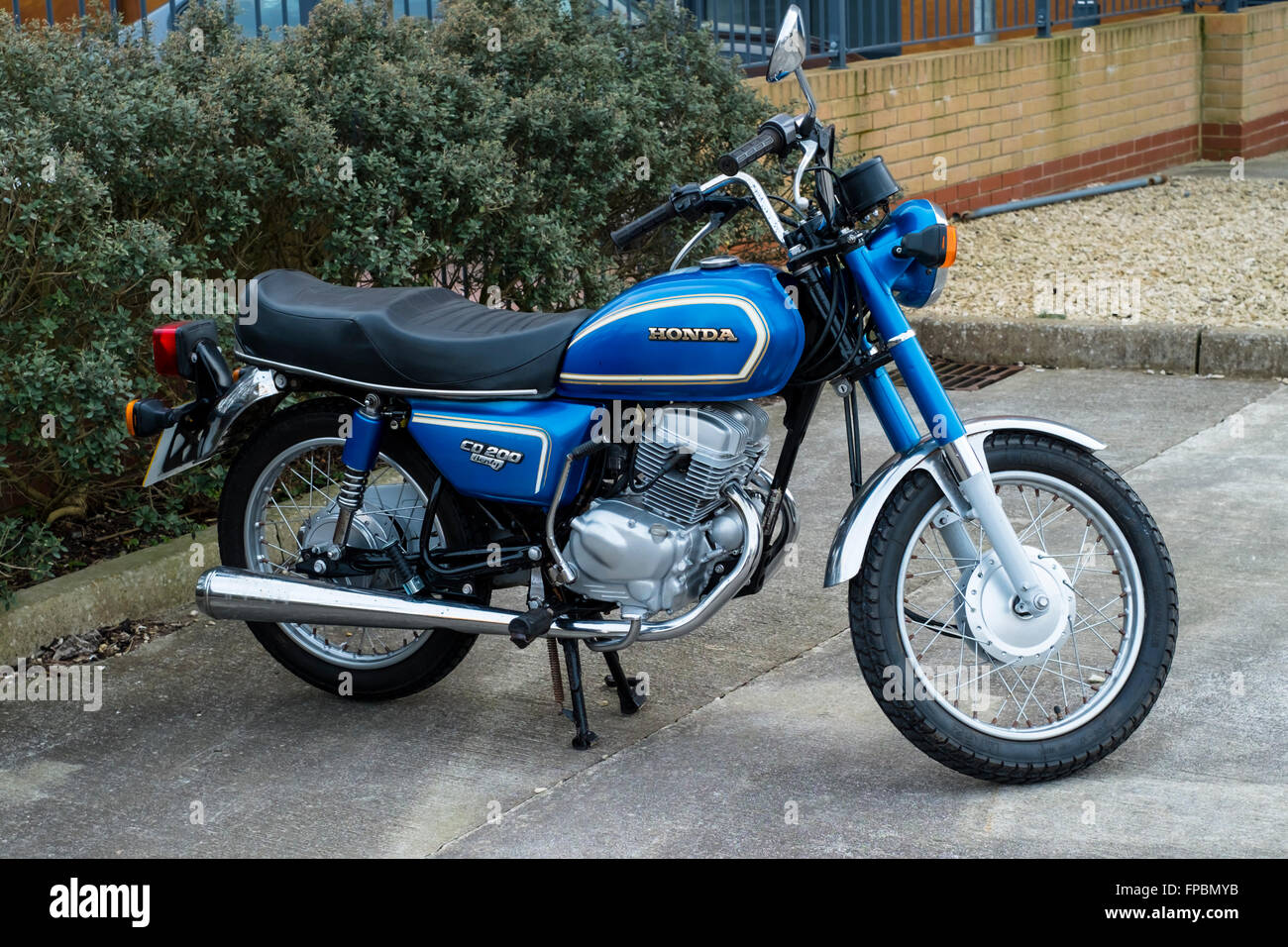 The classic honda cd200 benly motor bike stock photo for Honda motor company stock