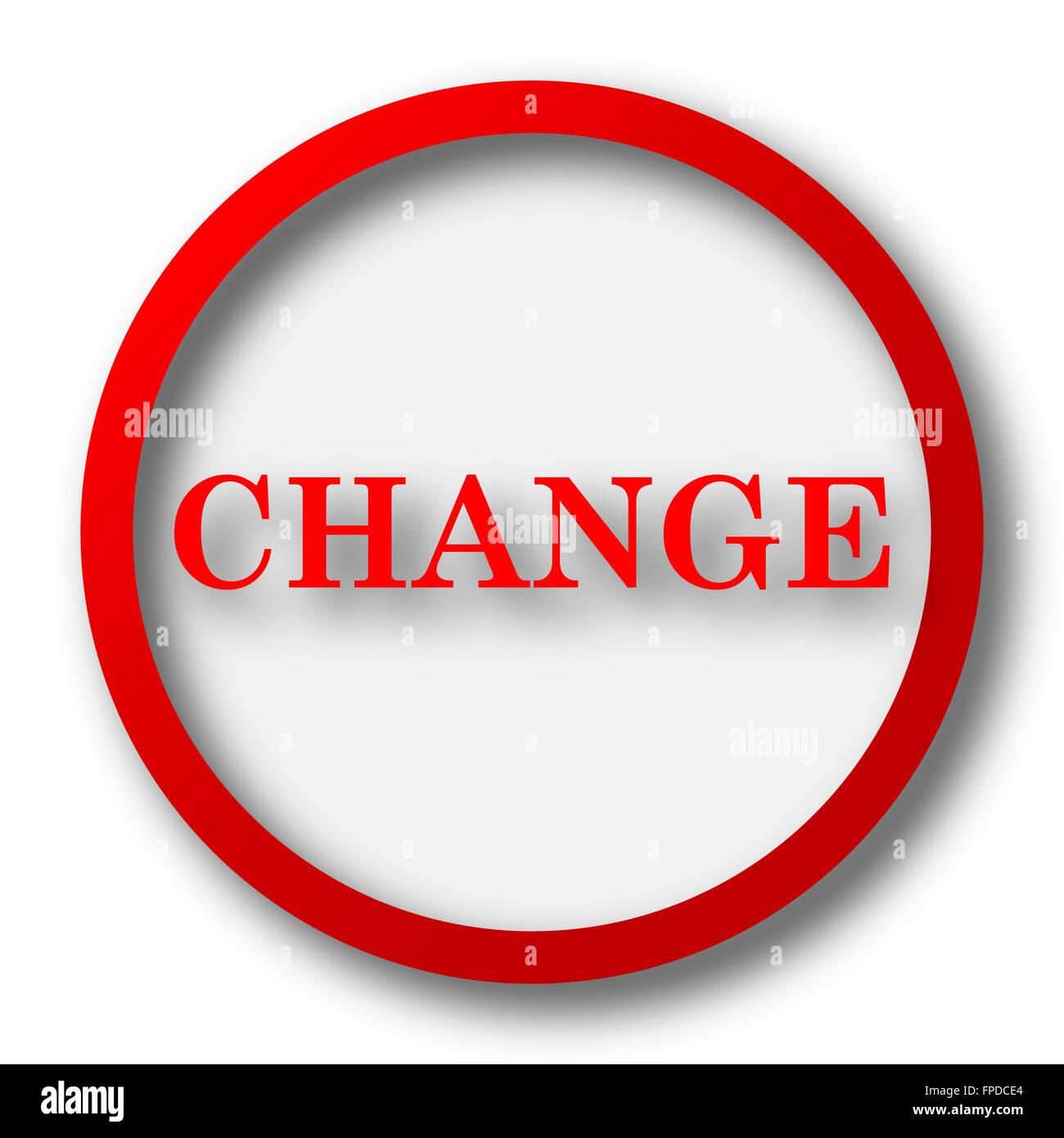 change icon internet button on white background stock