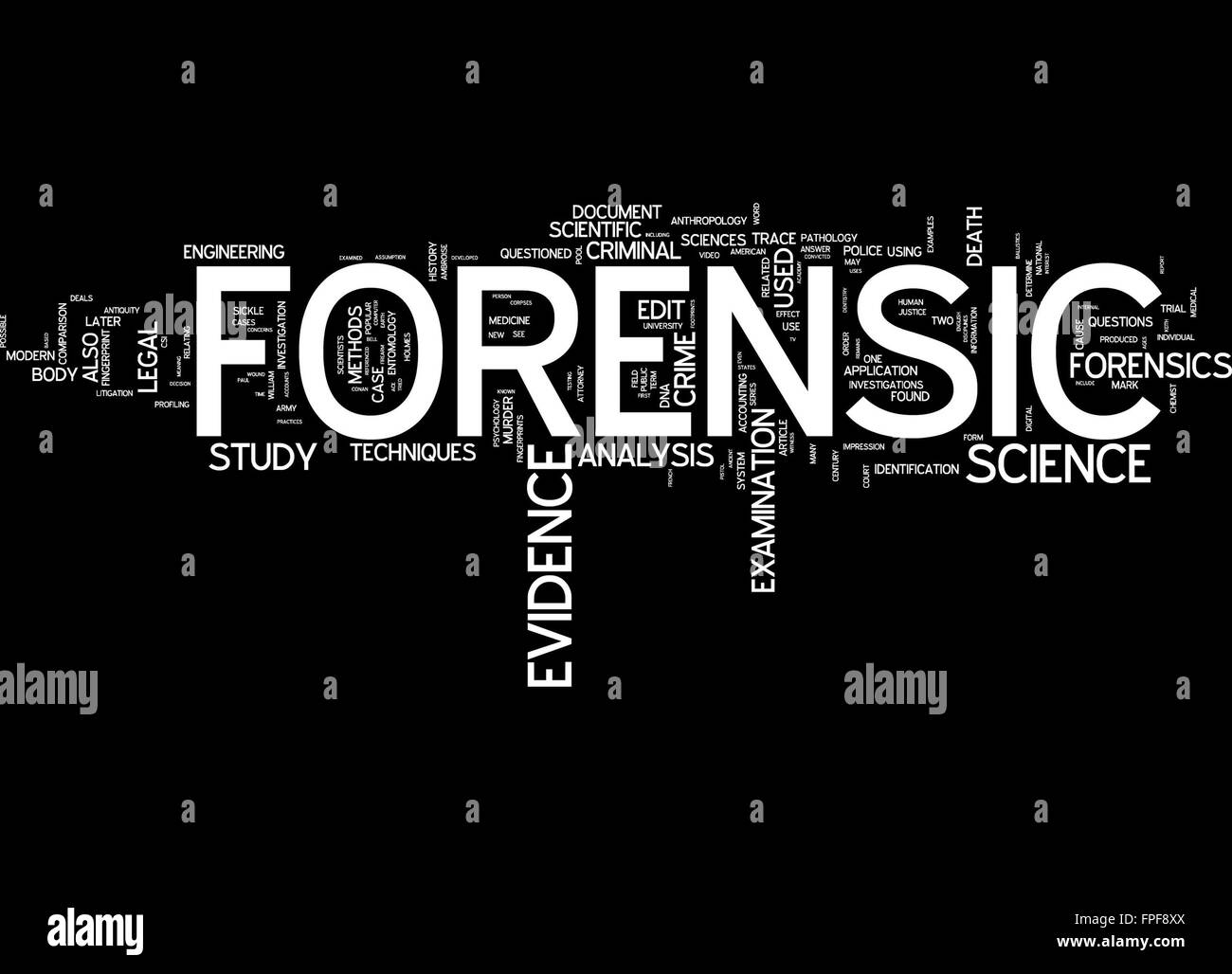 an analysis of the breakdown of evidence in forensic science Andincludestheanalysisofavarietyoffluidsandtissuesamplesto whyandwhenisforensictoxicologyused  (thebody'sbreakdownproducts).