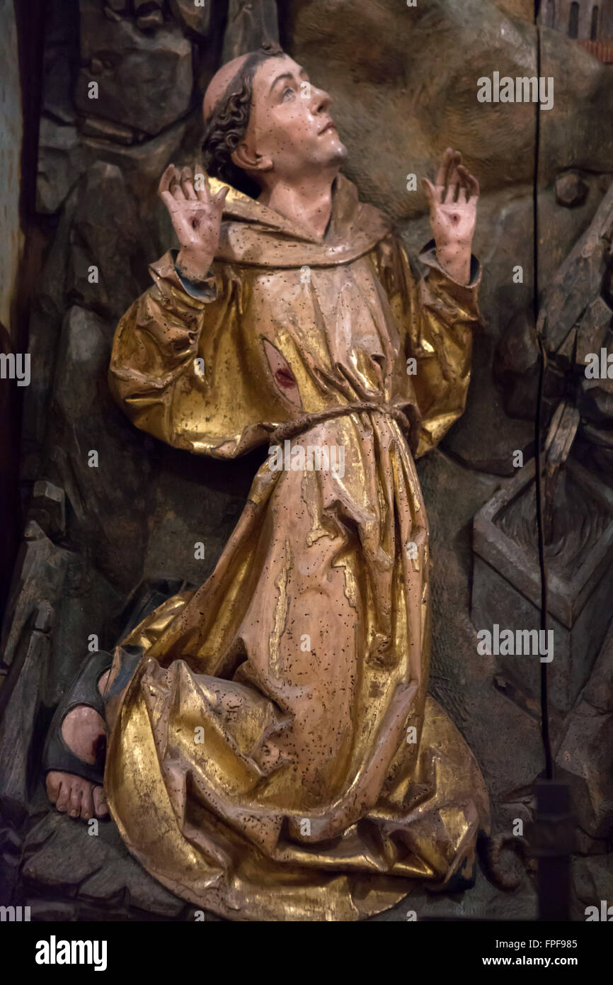 francis of assisi receiving the stigmata detail of the central stock photo royalty free