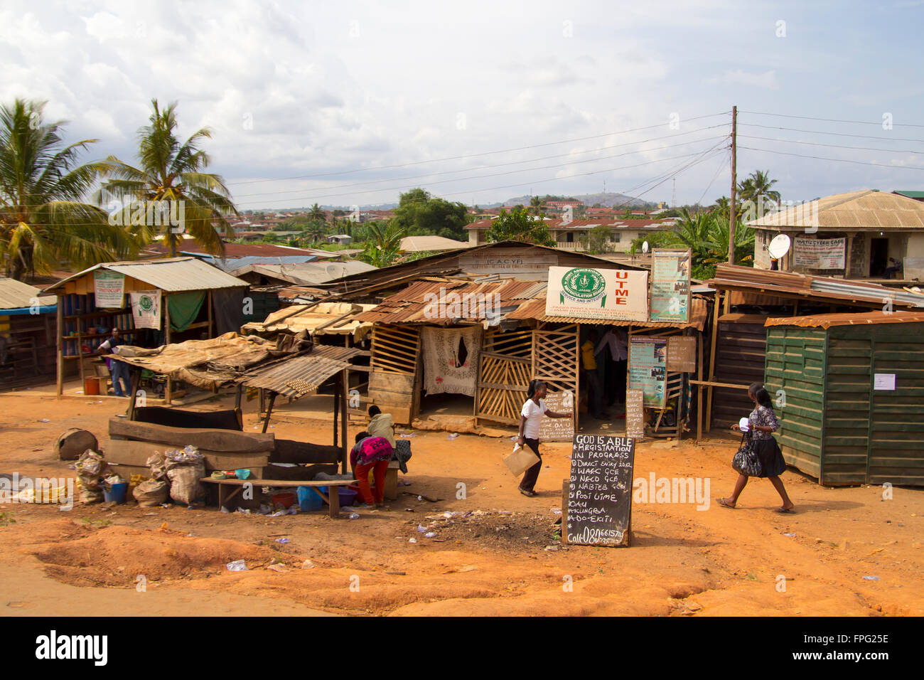 LAGOS NIGERIA MAY People Around A Poor Zone In The - Poor cities in africa