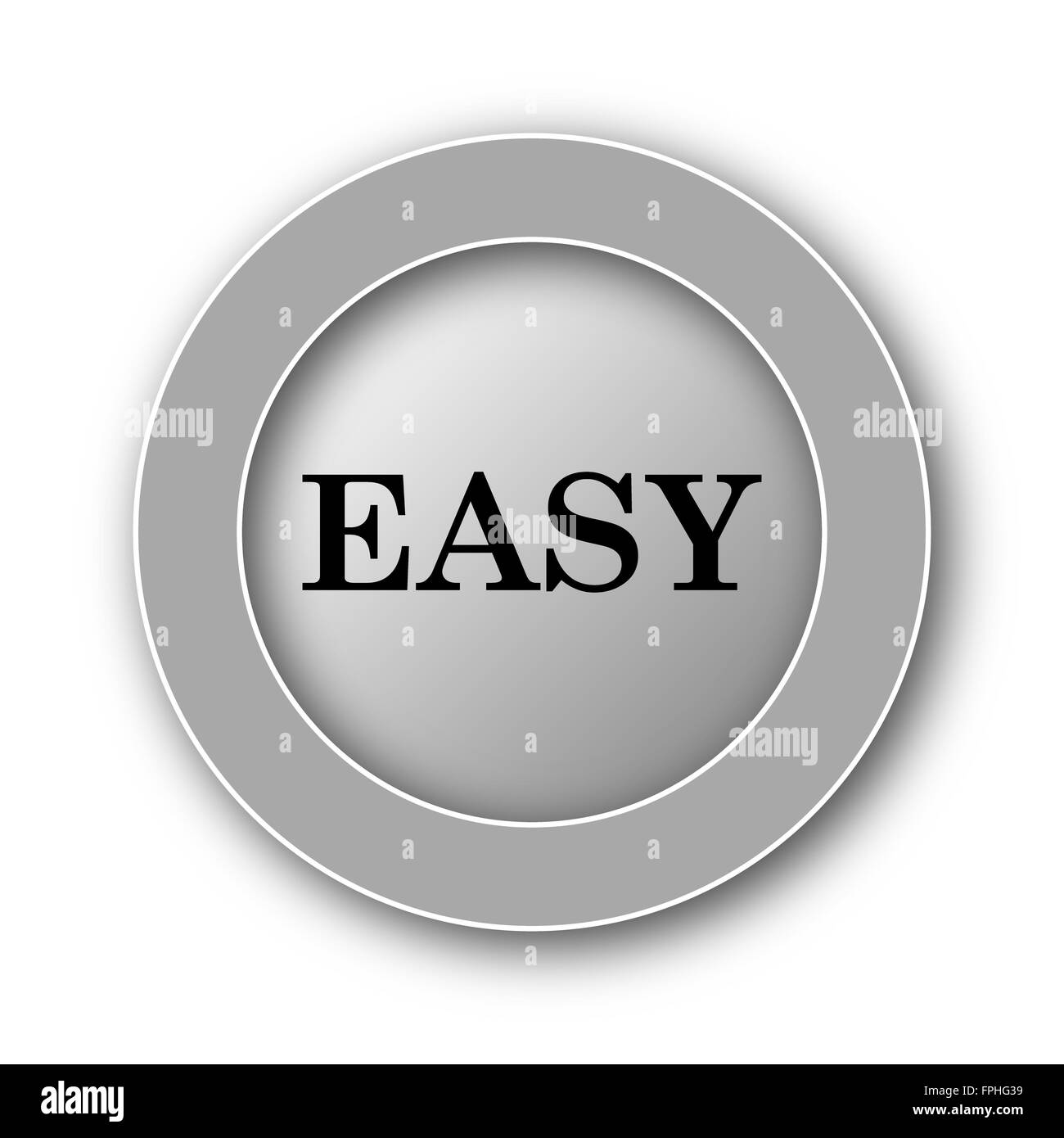 Easy icon. Internet button on white background Stock Photo ...