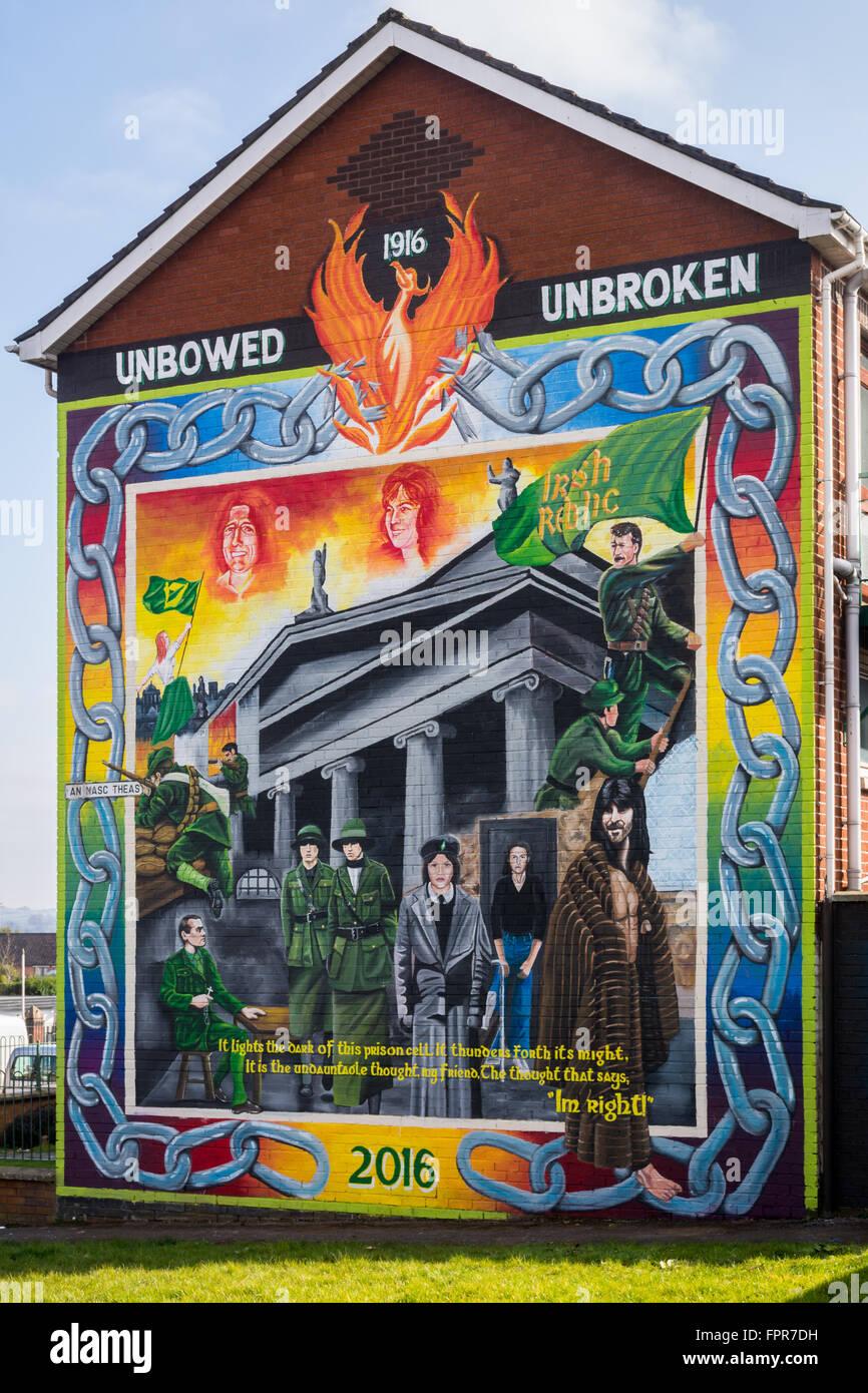 New 1916 easter rising centenary mural commemorating 100 for Easter rising mural