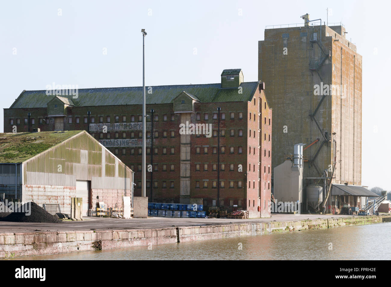 Warehouses At Sharpness Docks Gloucestershire Uk