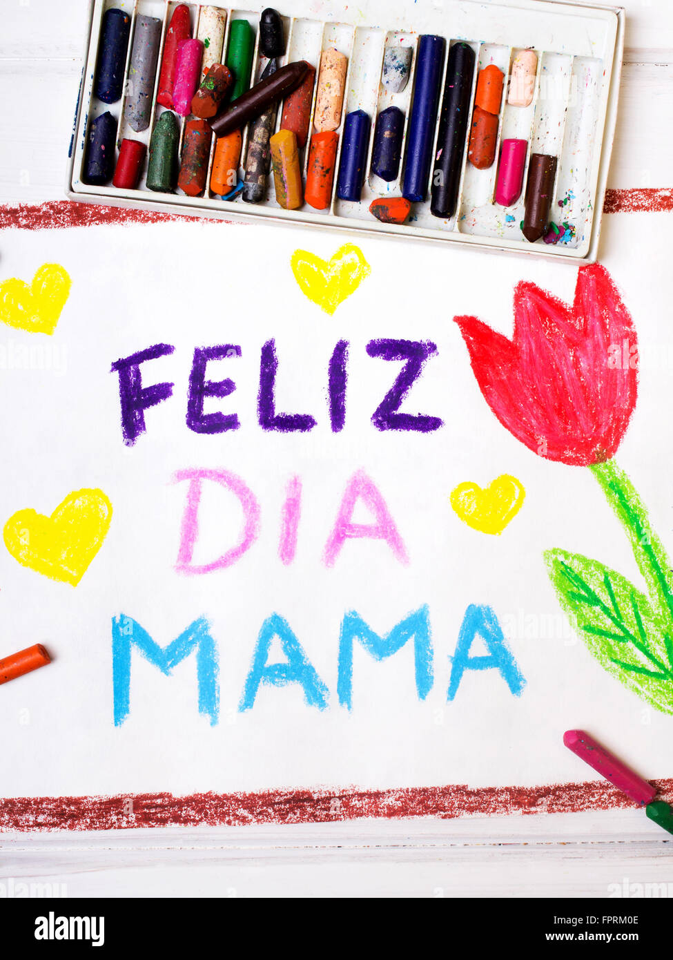 Colorful drawing spanish mothers day card with words happy colorful drawing spanish mothers day card with words happy mothers day kristyandbryce Choice Image