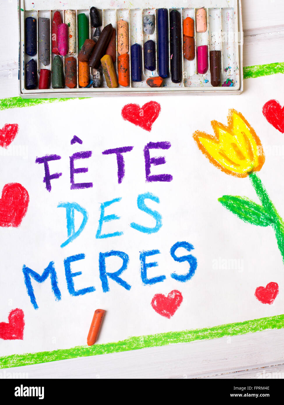 Colorful drawing french mothers day card with words mothers colorful drawing french mothers day card with words mothers day kristyandbryce Choice Image