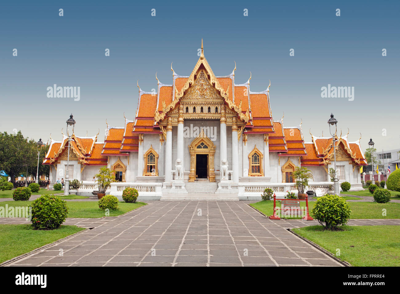Asia South East Thailand Bangkok Buddhist Architecture The Marble Temple Wat Benchamabophit Royal Monastery