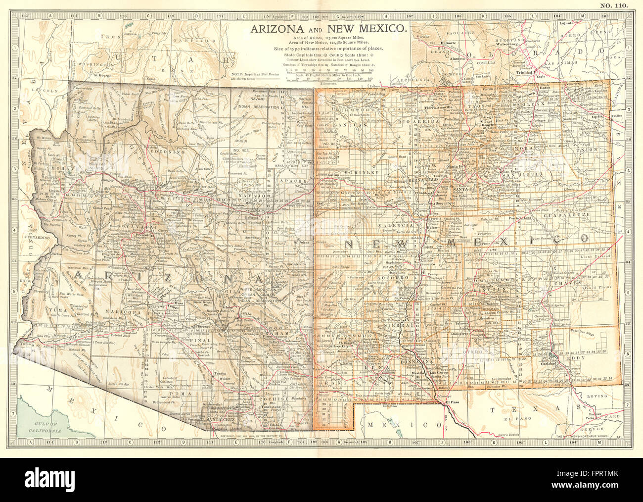 ARIZONA NEW MEXICO State Map Showing Counties Britannica Th - Arizona state map with counties