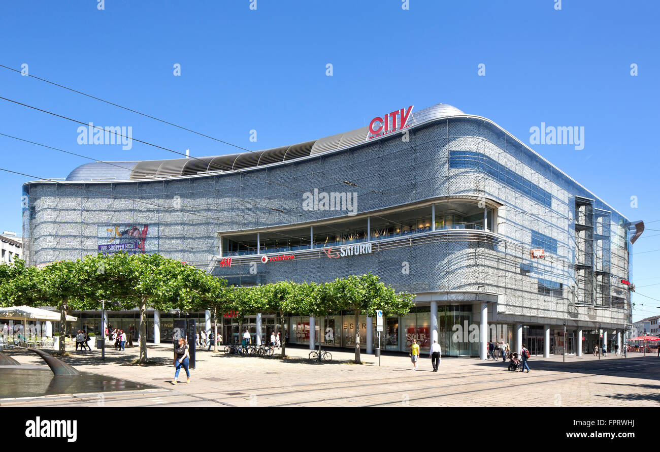 inner city shopping center city point k nigsplatz kassel hesse stock photo royalty free. Black Bedroom Furniture Sets. Home Design Ideas