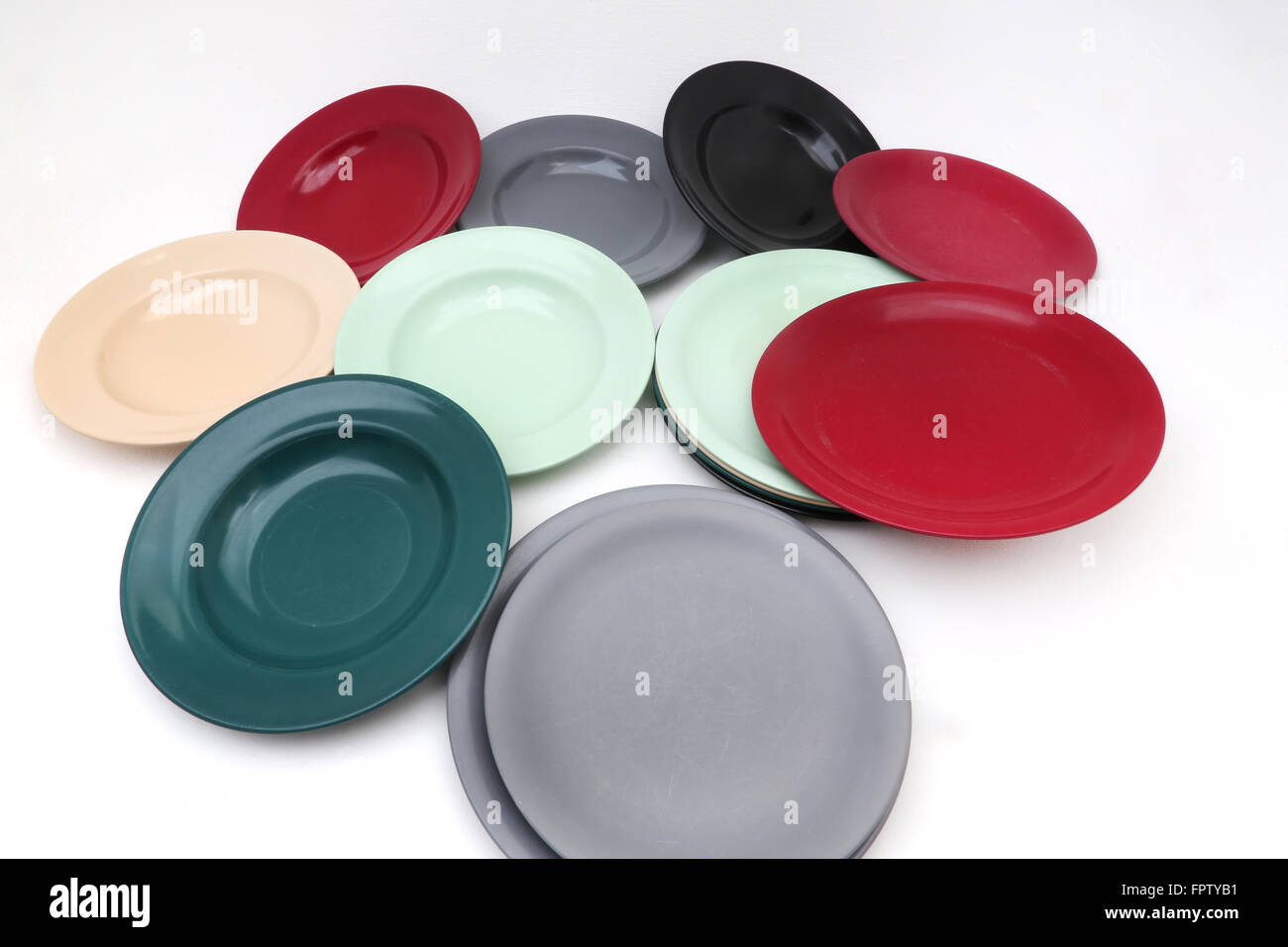 Vintage 1950\u0027s Melamine Plates And Bowls & Vintage 1950\u0027s Melamine Plates And Bowls Stock Photo: 100122597 ...