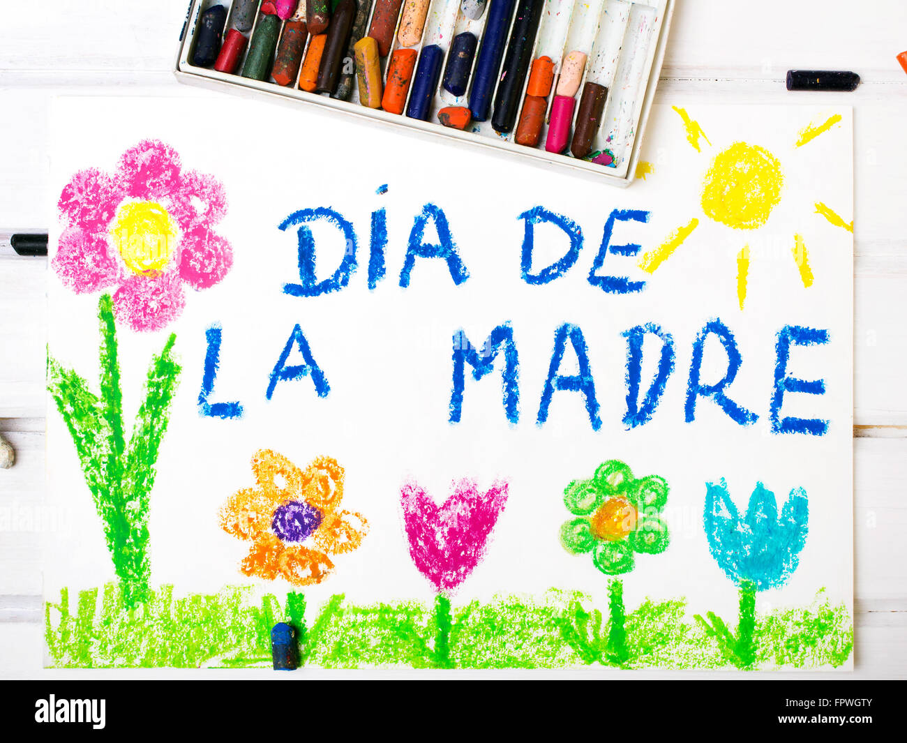 Colorful drawing spanish mothers day card with words mothers colorful drawing spanish mothers day card with words mothers day kristyandbryce Choice Image