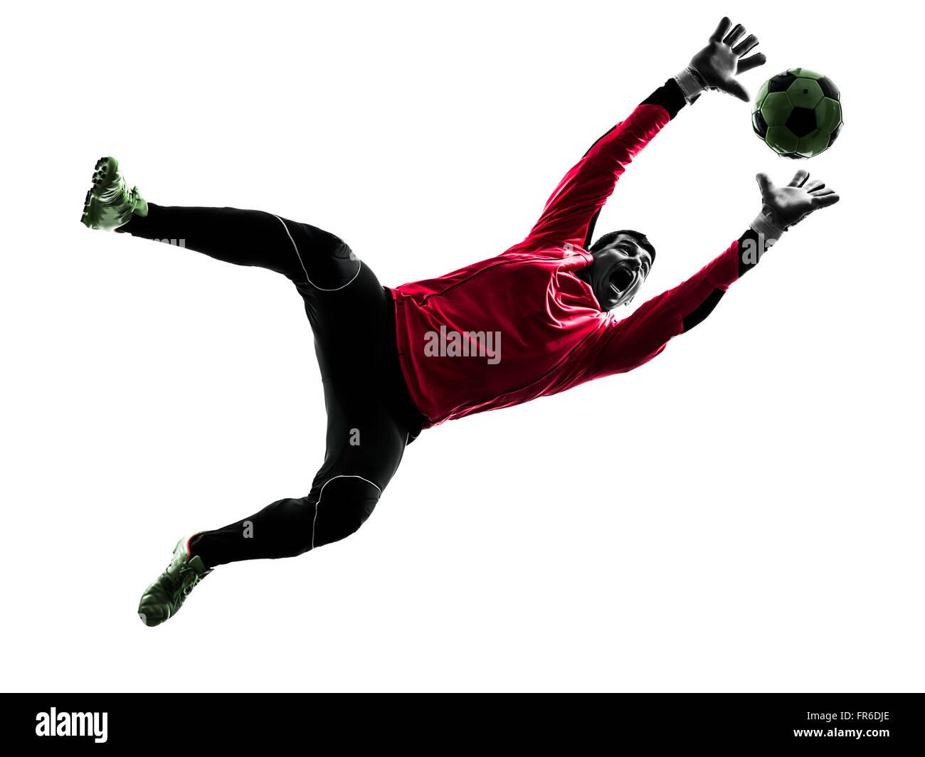 Soccer player silhouette goalie