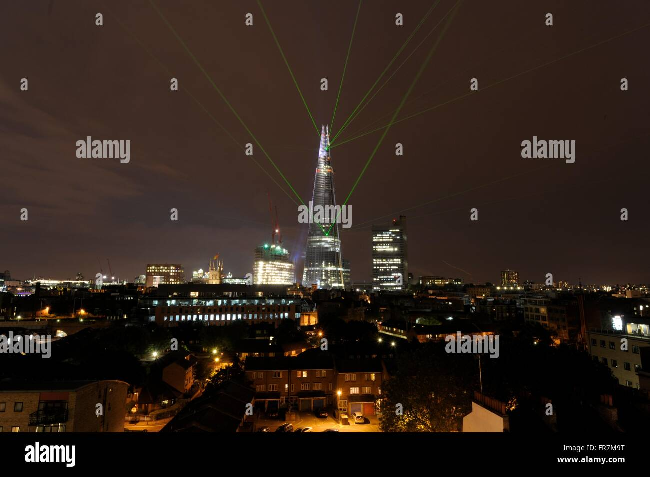 Shard london, laser show to mark completion of external works