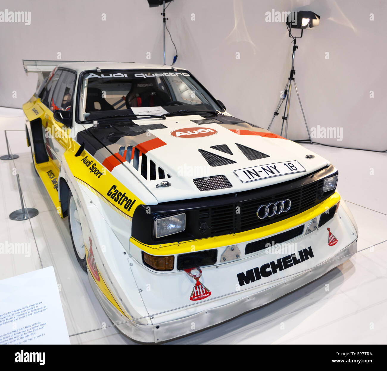 "A Group B Era, Audi Quattro Rally Car, On Display In ""The"