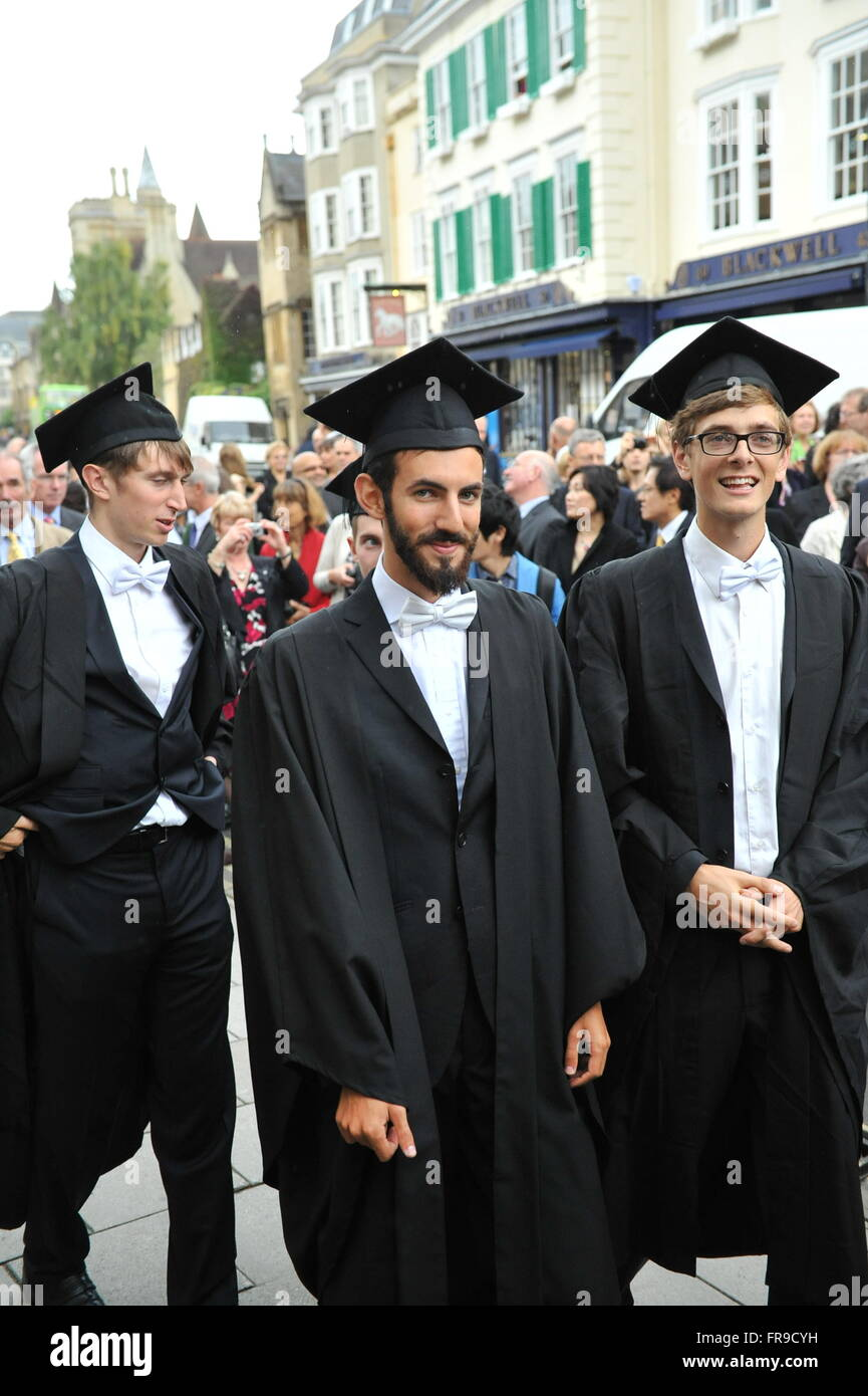 Oxford College Students Wearing Tradional Sub Fusc Clothing For Stock Photo Royalty Free