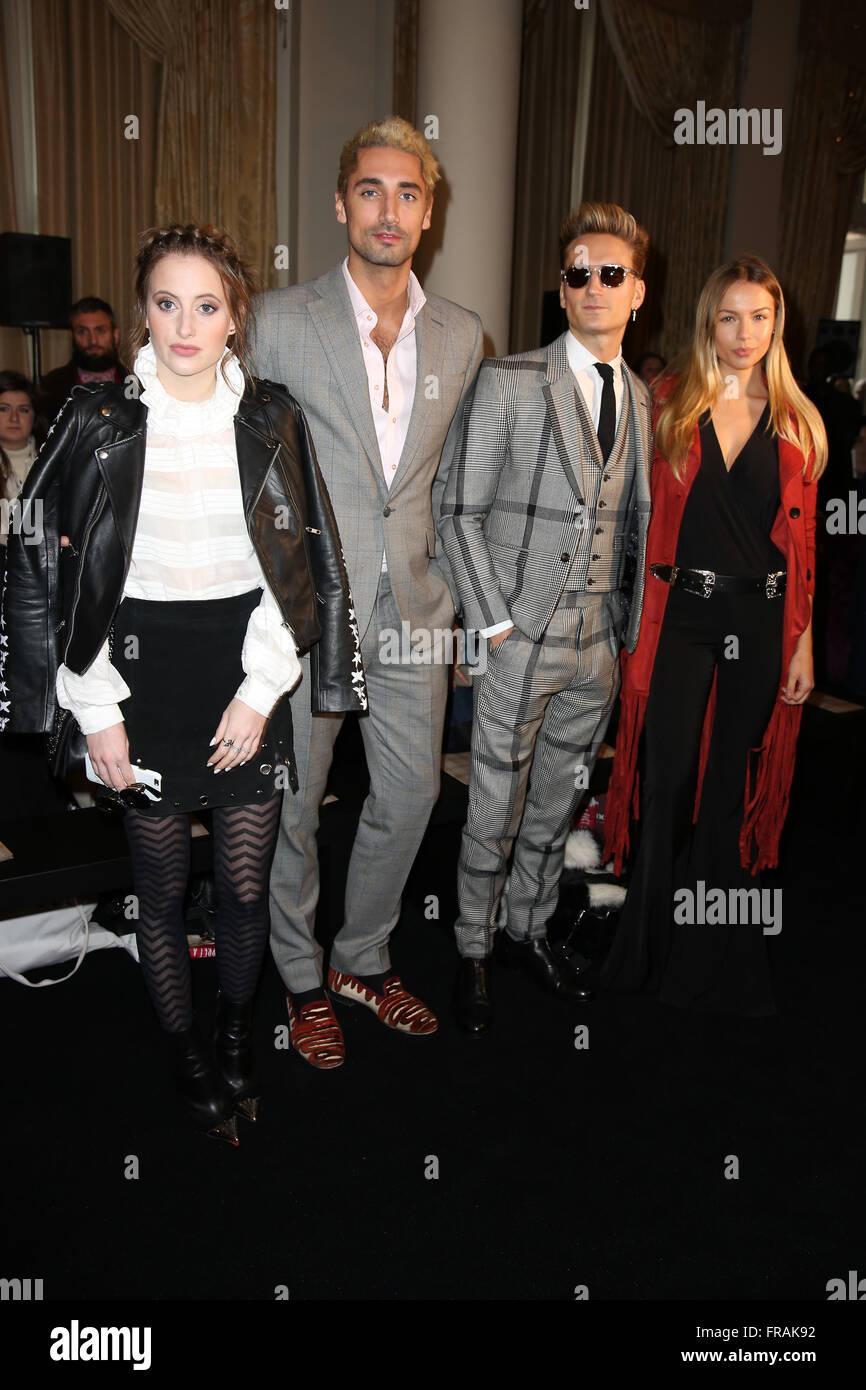 London Fashion Week Autumn Winter 2016 Daks Front Row Featuring Stock Photo Royalty Free