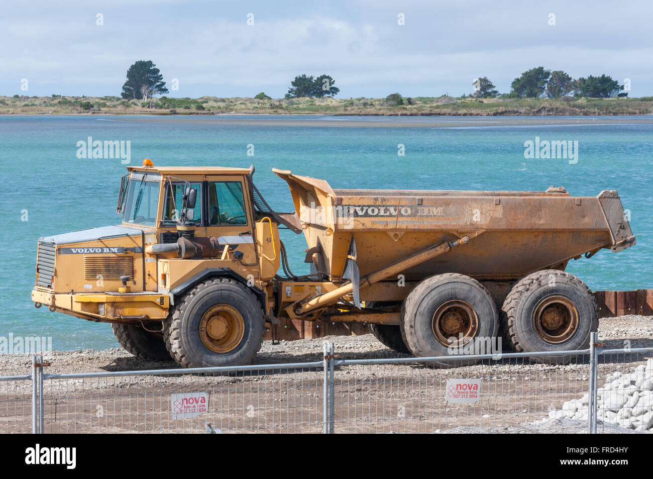Volvo BM Articulated Dump Truck on construction site, Redcliffs Stock Photo, Royalty Free Image ...