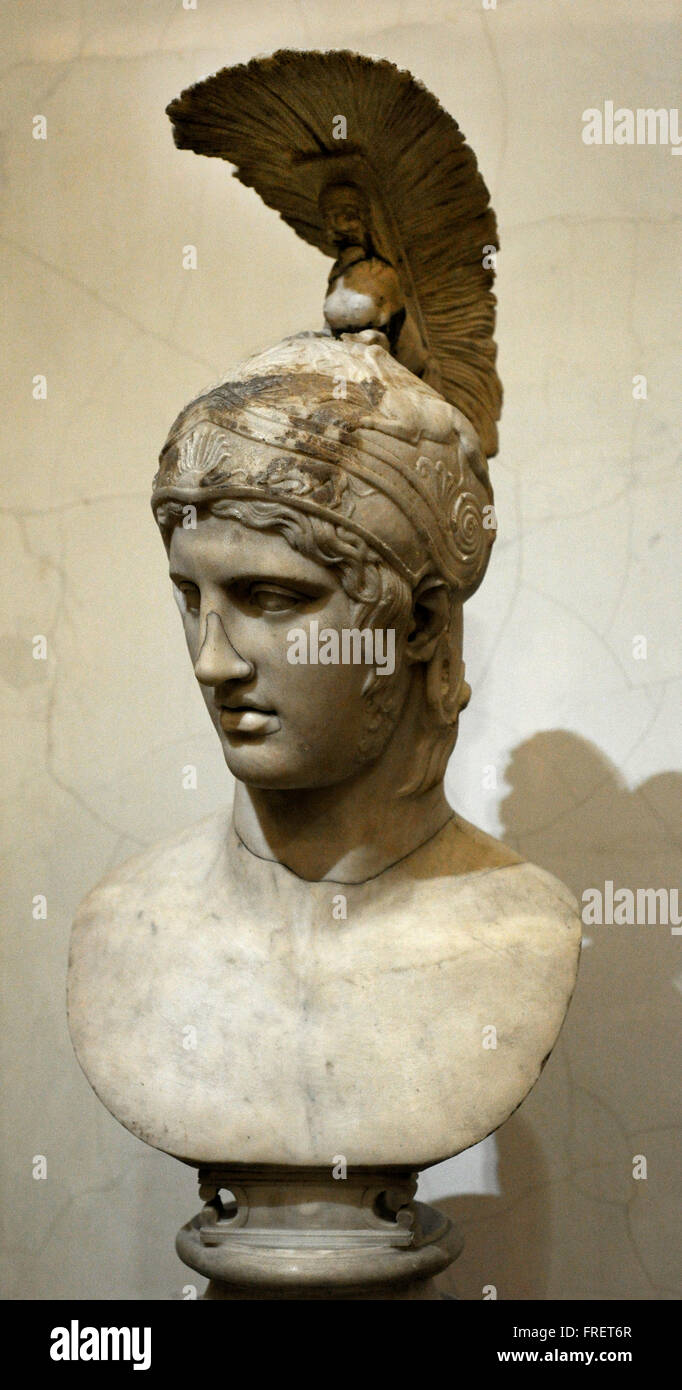 head of ares god of war roman work early 2nd c ad after the
