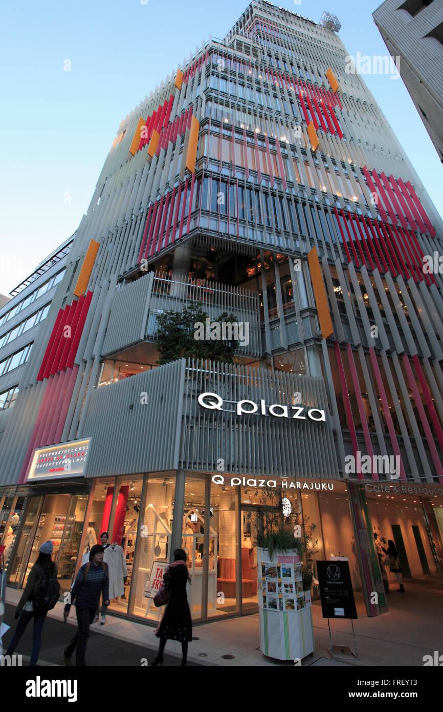 Modern Architecture Tokyo japan, tokyo, harajuku, q plaza, modern architecture stock photo