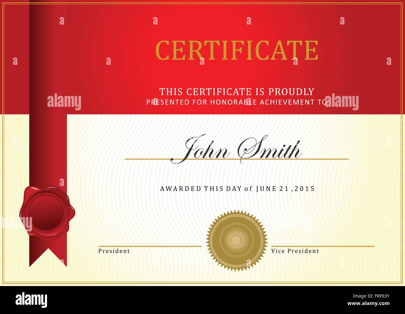 Certificate template vector with ribbon vector stock vector art certificate template vector with ribbon vector xflitez Gallery
