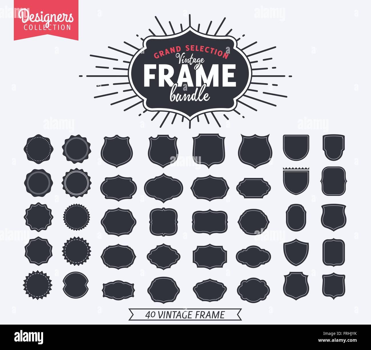 simple and graceful frame design template elegant line logo design vector illustration vintage