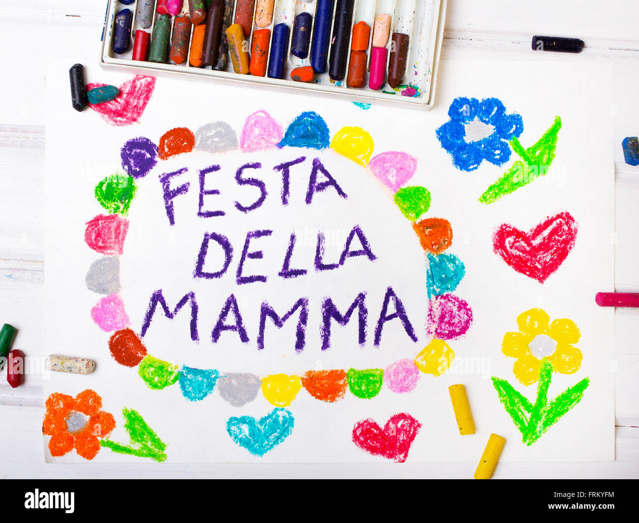 Colorful drawing italian mothers day card with words mothers colorful drawing italian mothers day card with words mothers day kristyandbryce Choice Image