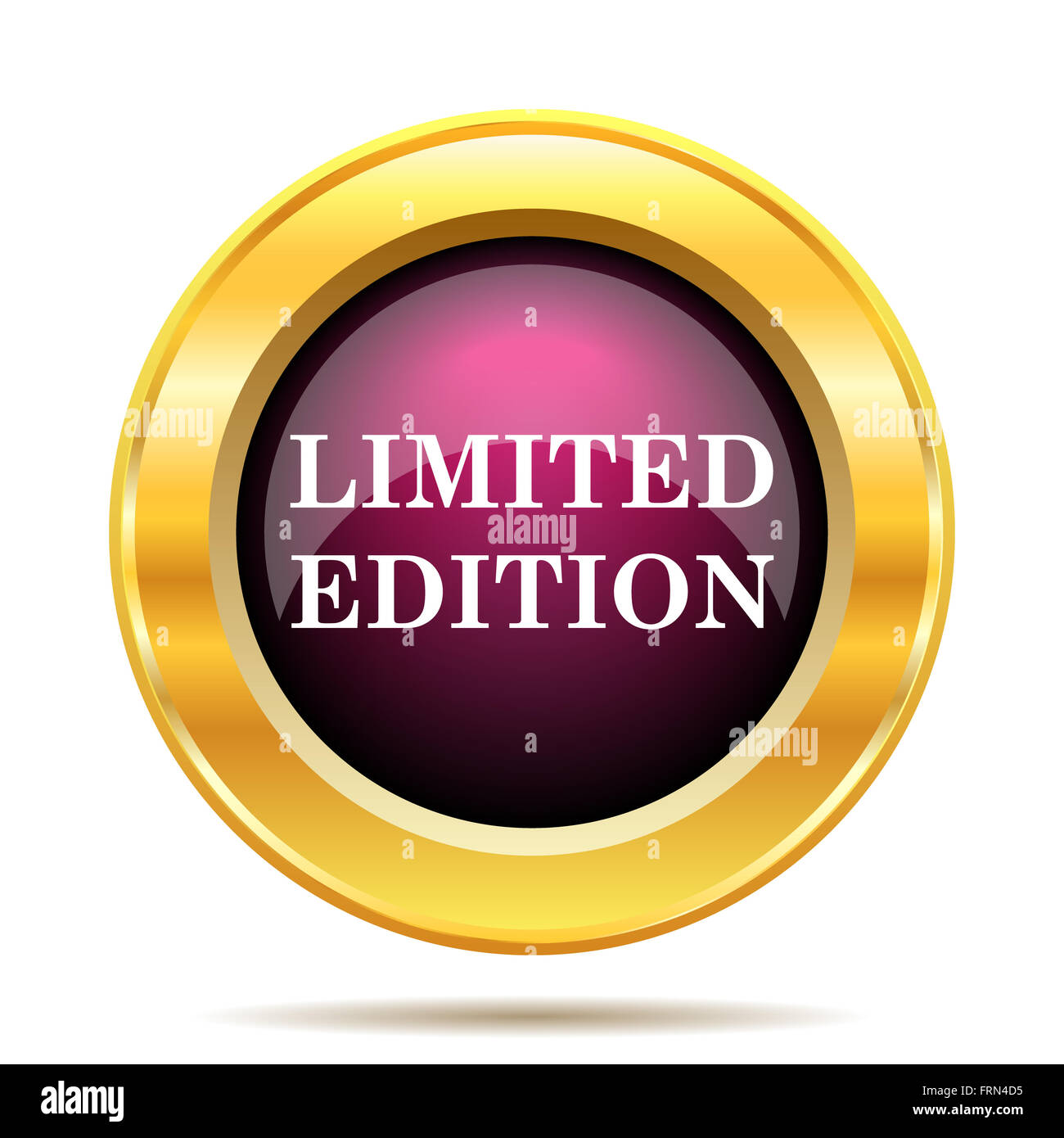 Limited edition icon. Internet button on white background ...