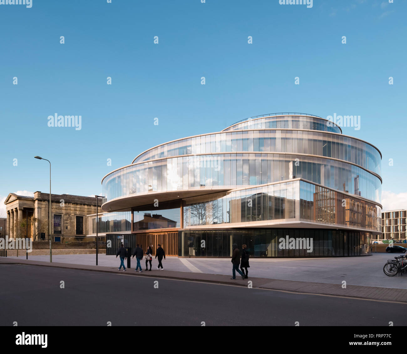 D Front Elevation Of School : General view of front elevation from street the blavatnik