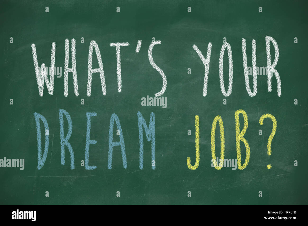 what s your dream job phrase handwritten on chalkboard stock photo stock photo what s your dream job phrase handwritten on chalkboard