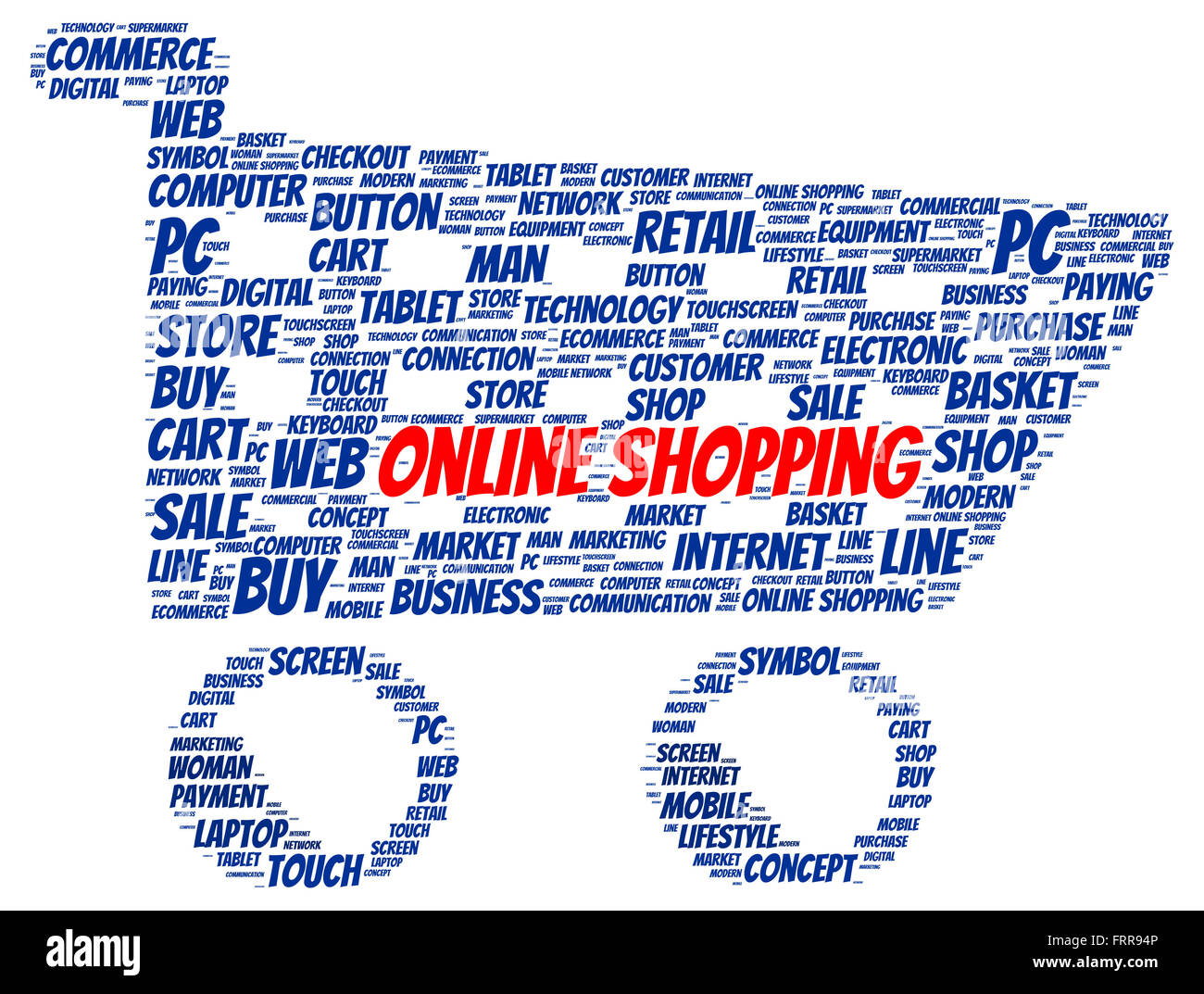 Online shopping word cloud shape concept Stock Photo, Royalty Free ...