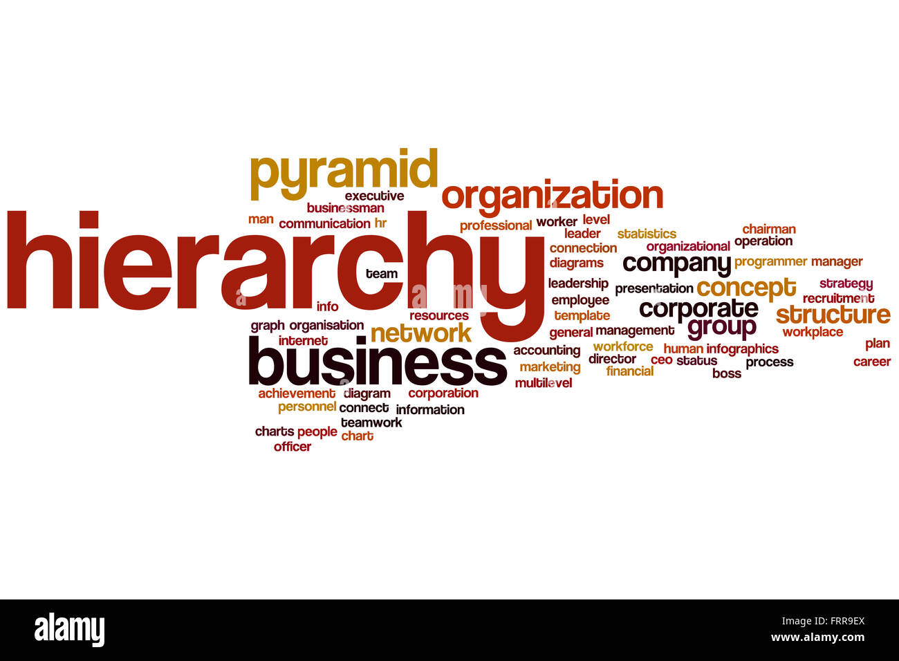Hierarchy word cloud concept stock photo royalty free image hierarchy word cloud concept ccuart Images