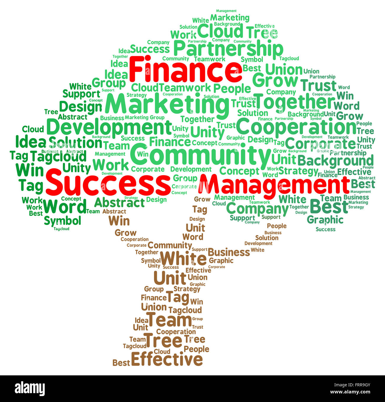 Finance Words: Word Cloud With Emphasized Words Finance Success