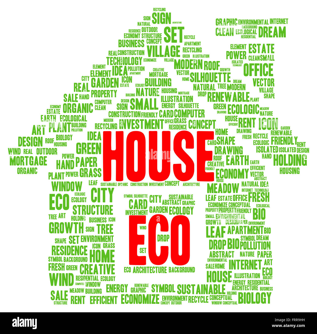 Eco house word cloud shape concept Stock Photo, Royalty Free Image ...