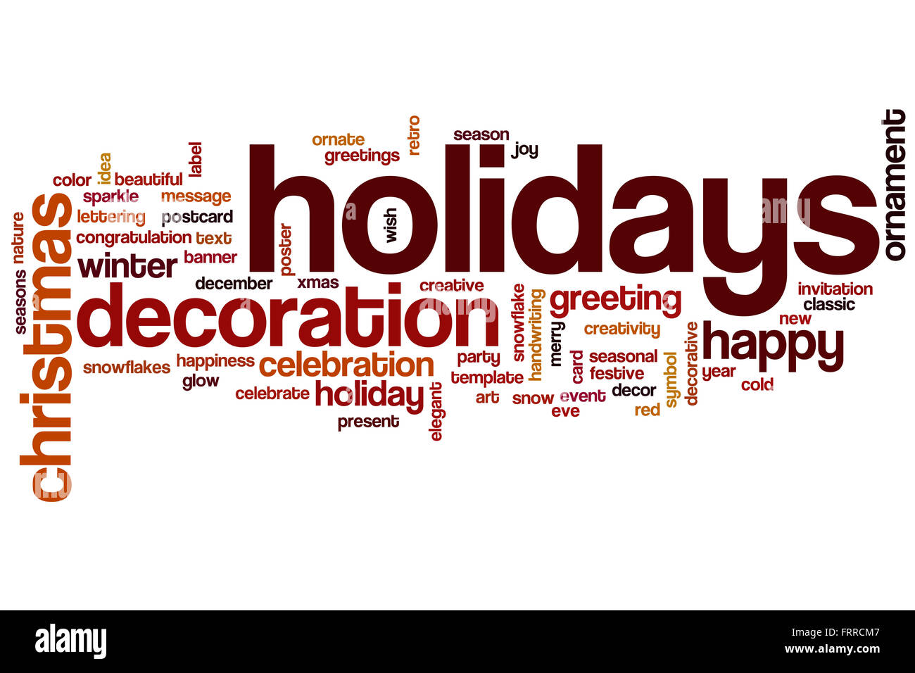 holidays word cloud concept with decoration winter related tags, Powerpoint templates