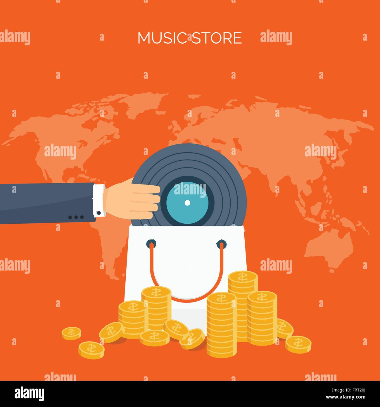 Simple Wallpaper Music Disk - vector-illustration-flat-background-musicproduction-show-business-FRT20J  Best Photo Reference_47585.jpg