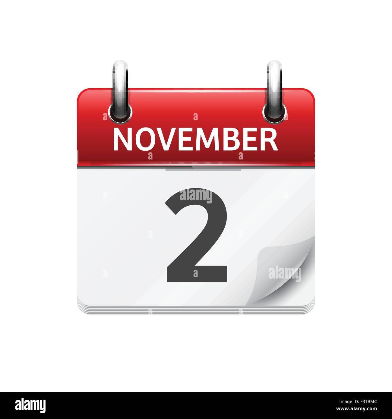 Daily Calendar Clipart : November vector flat daily calendar icon date and