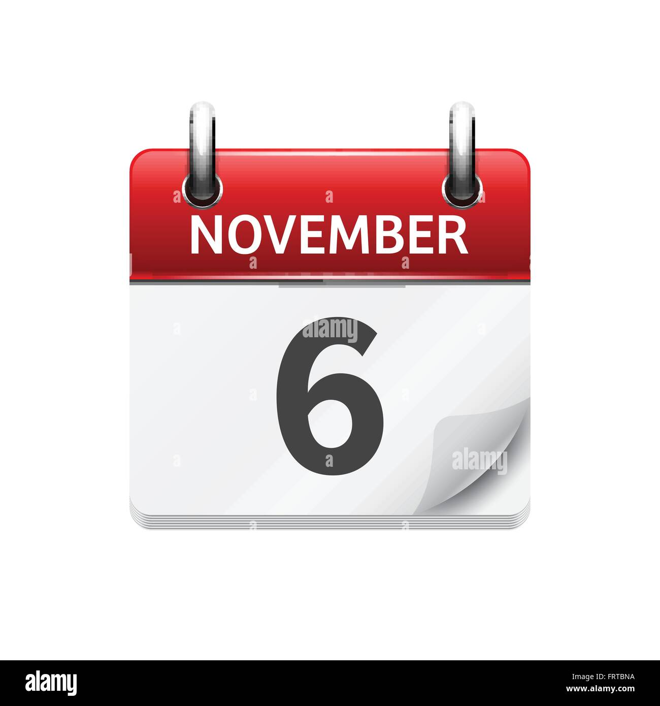 Vector Flat Daily Calendar Icon. Date And Time, Day, Month. Holiday