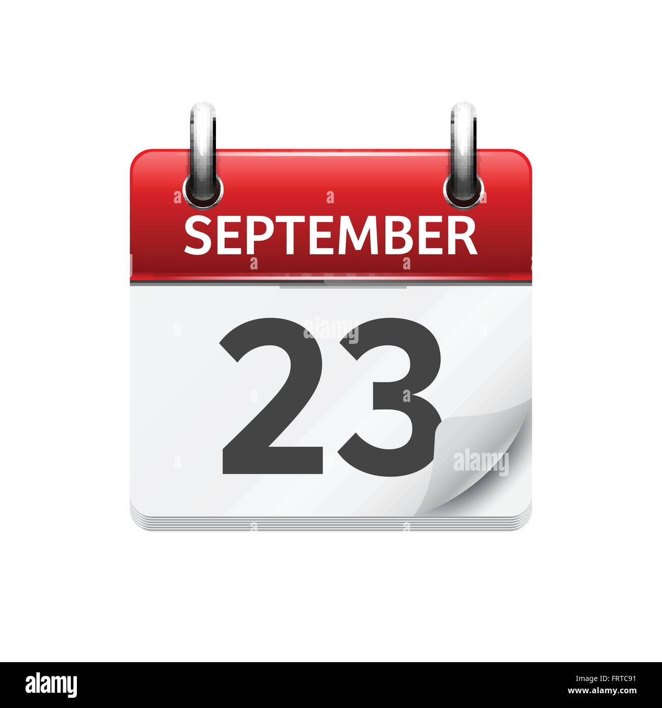 September 23 . Vector Flat Daily Calendar Icon. Date And Time, Day ...