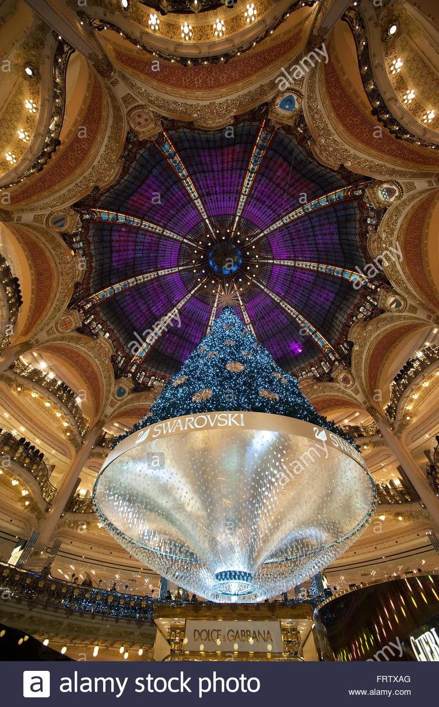 A Huge Christmas Tree Is