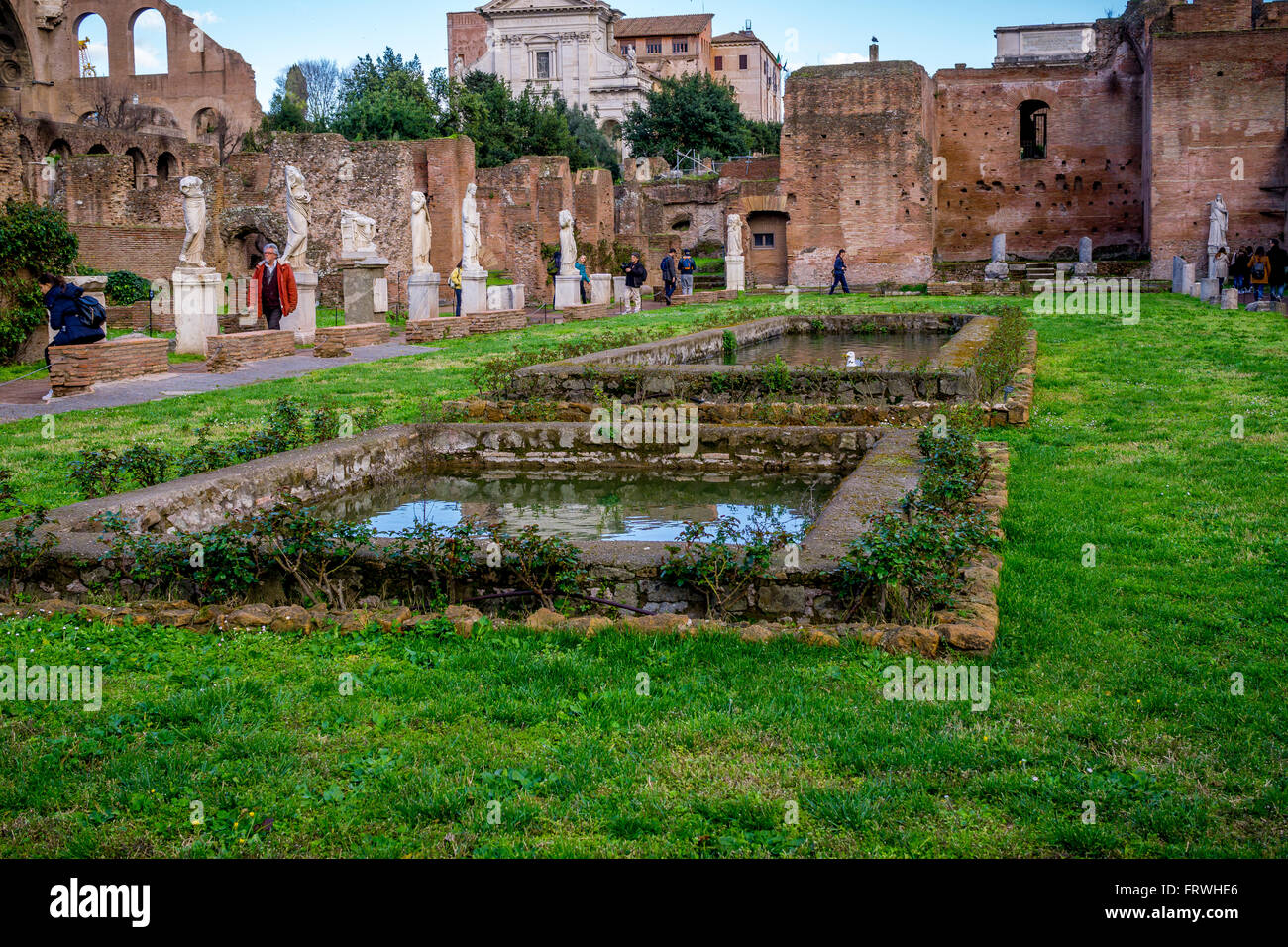 house of the vestal virgins atrium vestae roman forum rome stock photo royalty free image. Black Bedroom Furniture Sets. Home Design Ideas