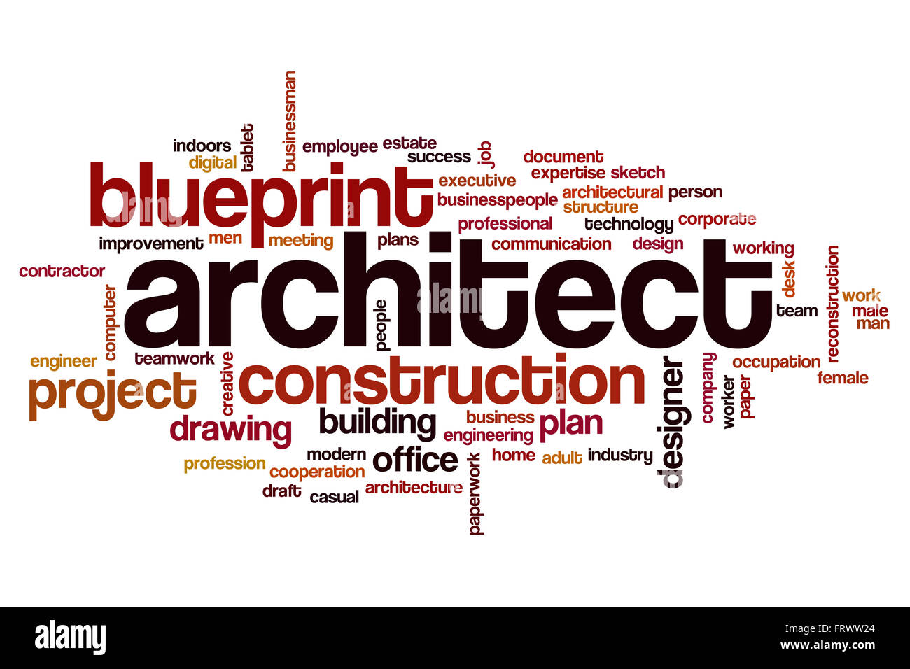 Architect Word Cloud Stock Photo Royalty Free Image 100757388