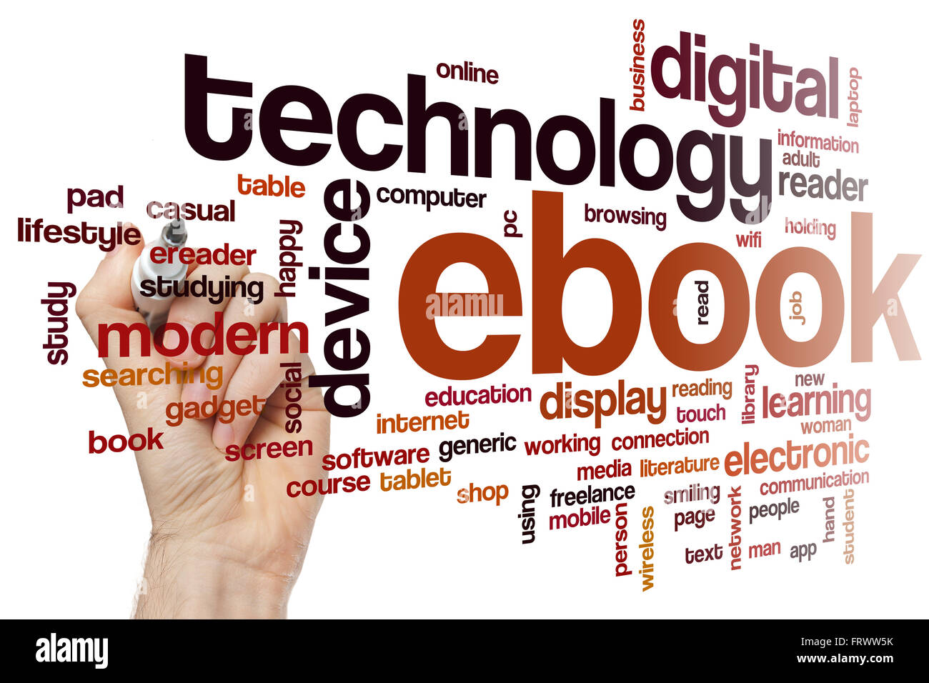 ebook word cloud stock photo royalty free image 100757487 alamy