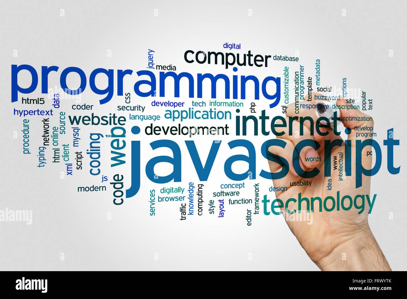 Background image javascript - Javascript Concept Word Cloud Background