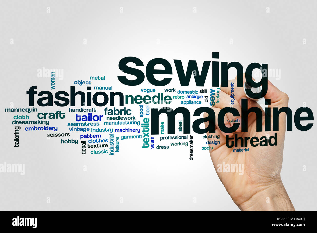 Sewing Machine Word Cloud Concept With Fashion Clothing Related Tags Stock Photo Royalty Free