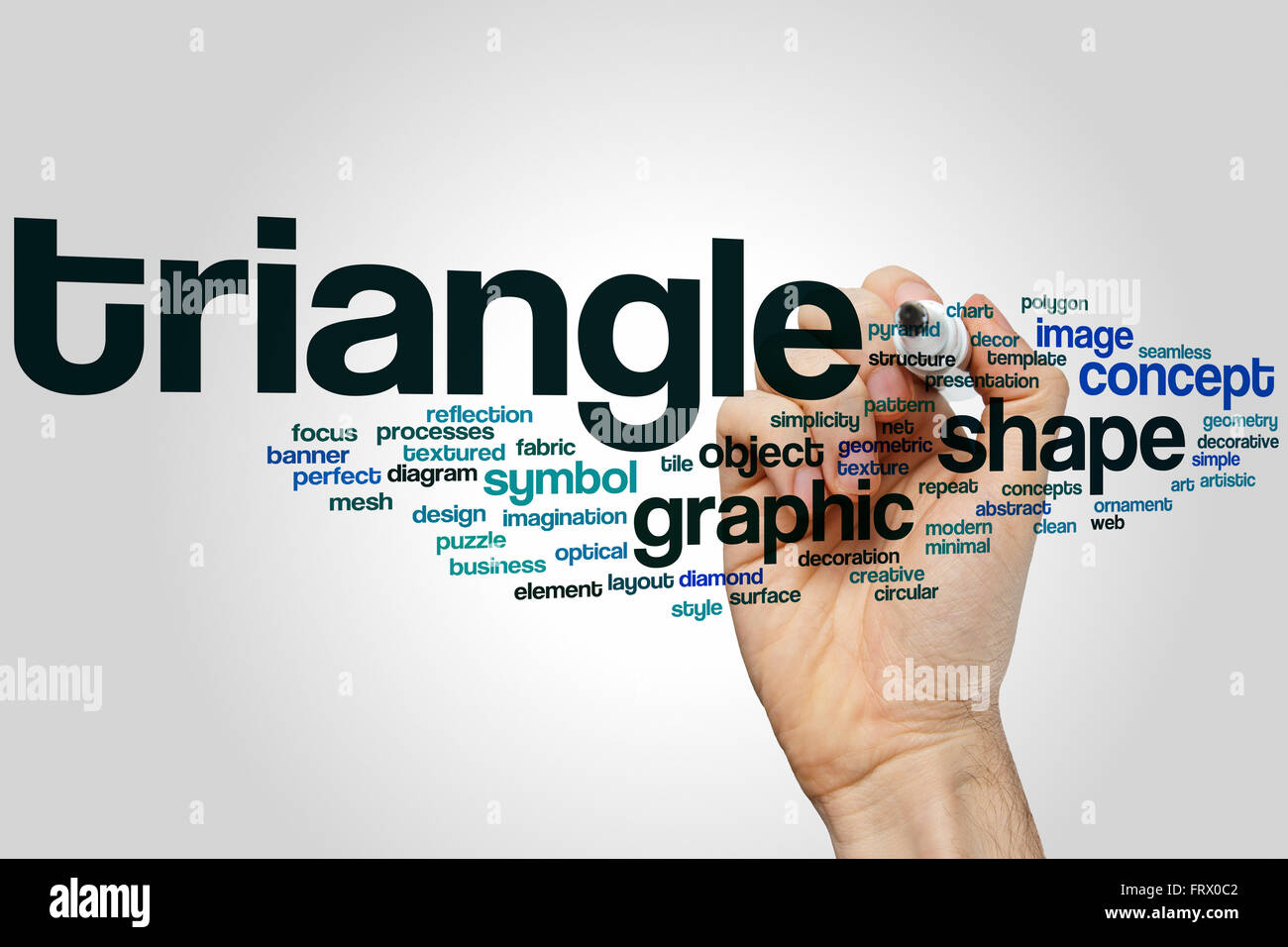 Triangle word cloud concept stock photo 100760018 alamy triangle word cloud concept buycottarizona Images