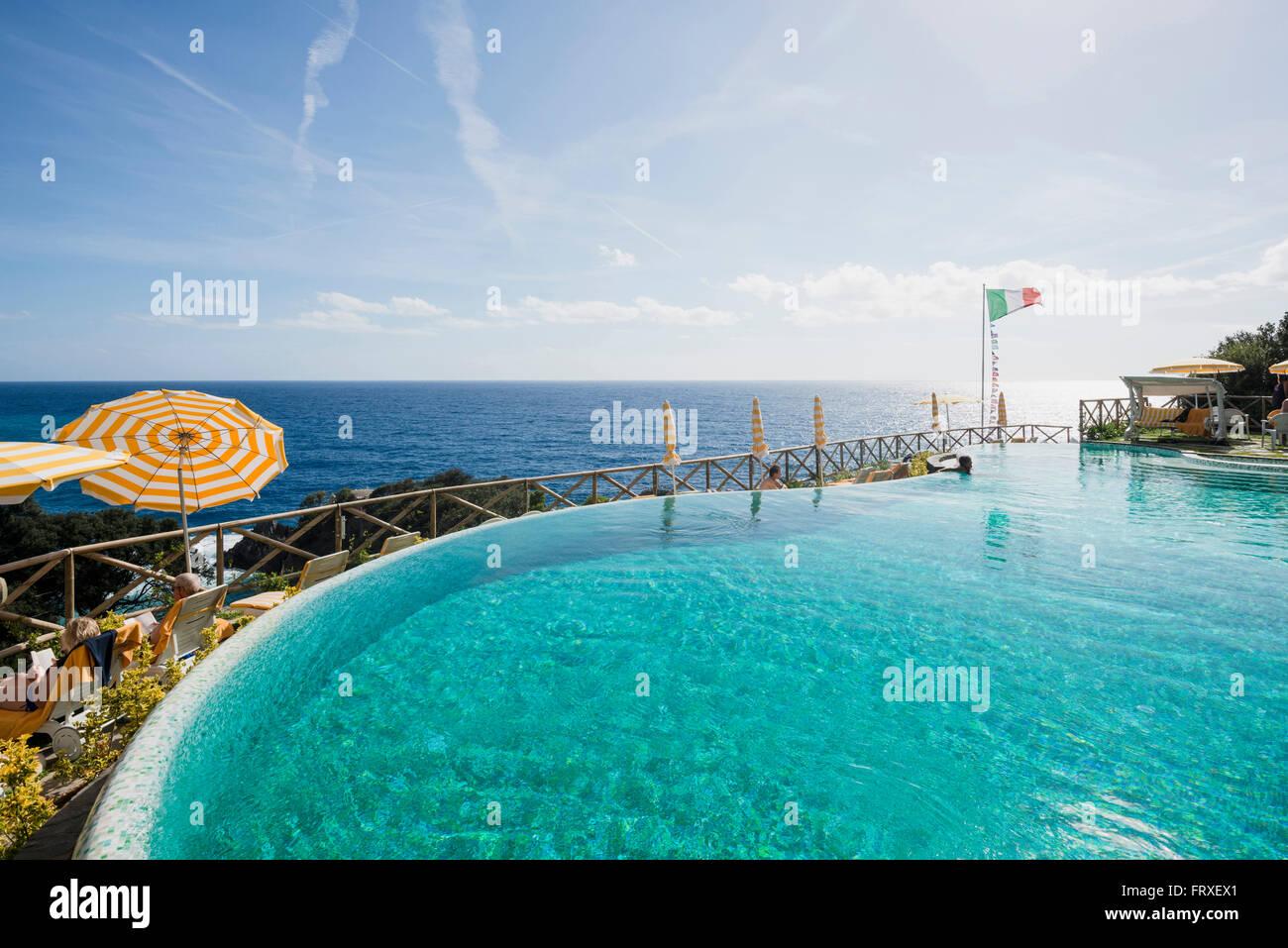 swimming pool of a hotel monterosso al mare cinque terre la stock photo royalty free image