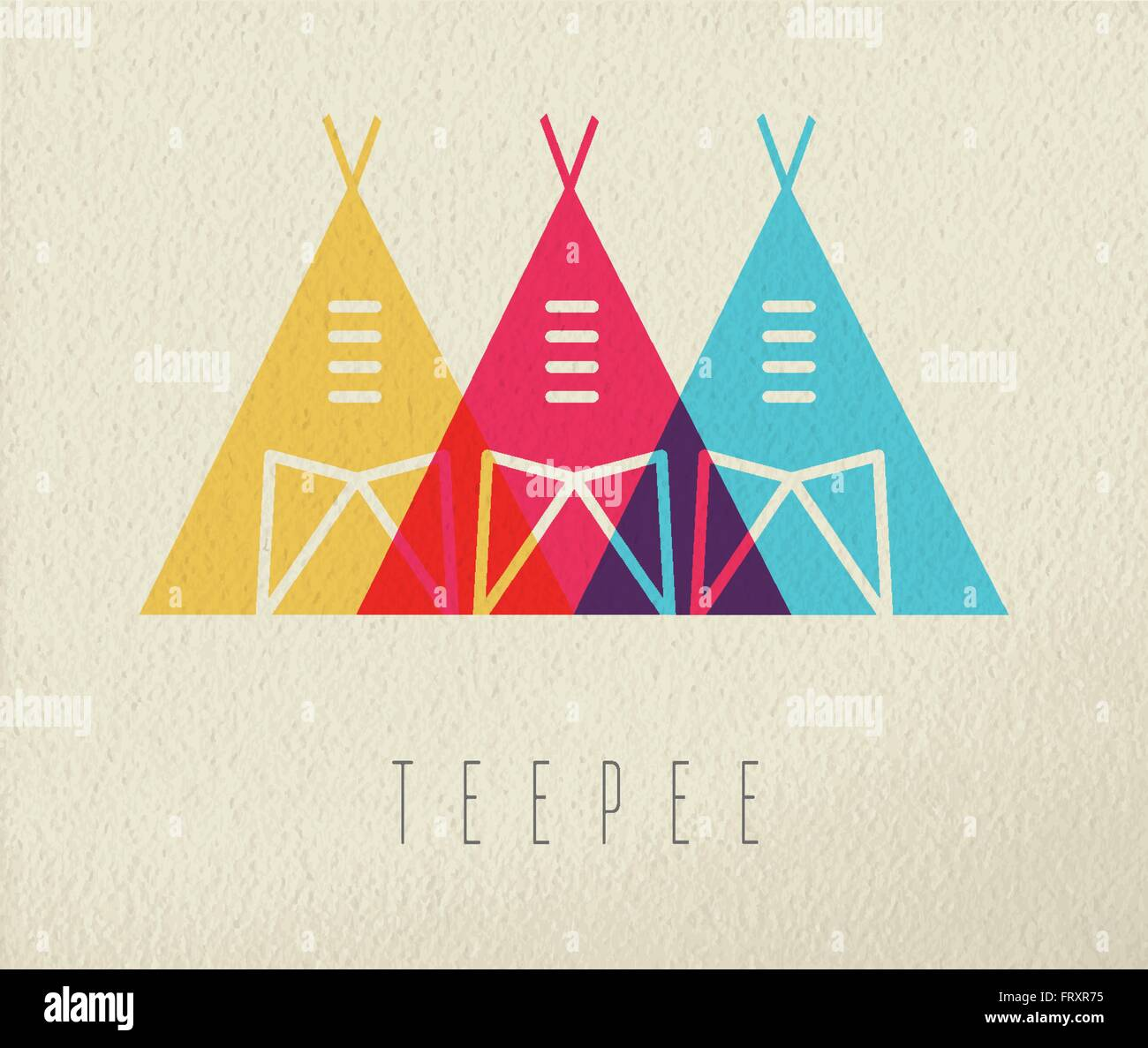 tipi tent concept icon illustration of native american indian traditional house in color style over - Native American Pictures Color