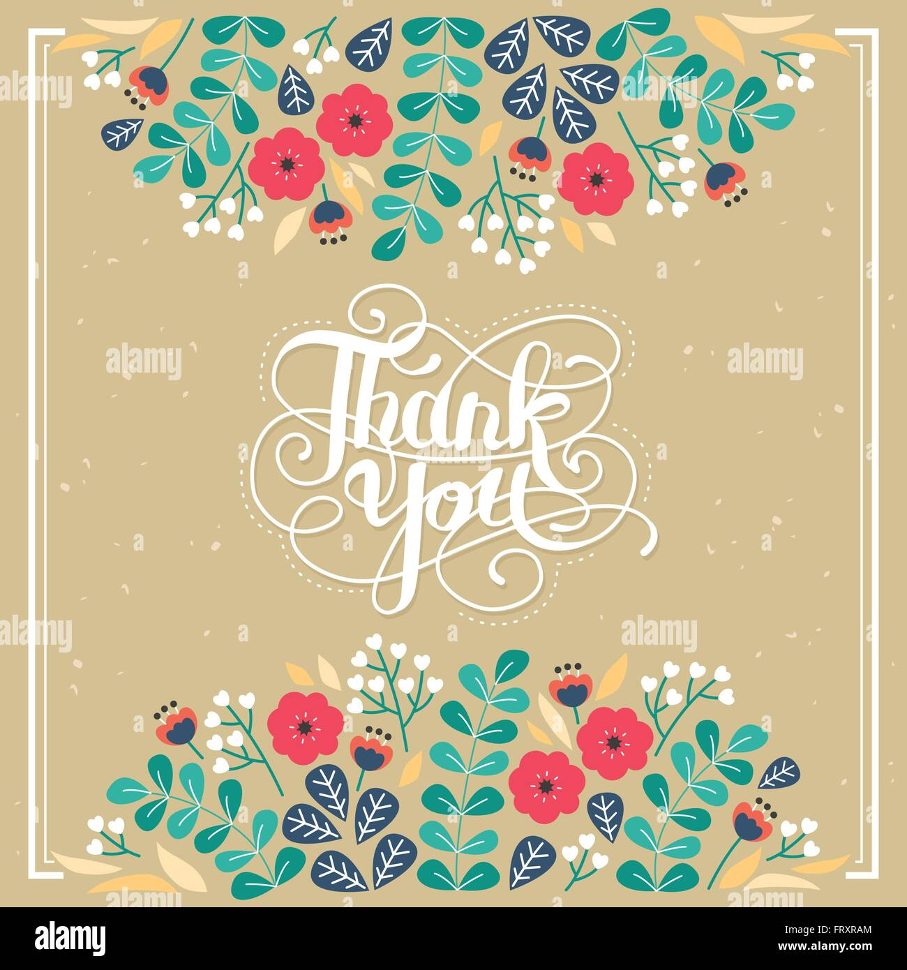 Poster design keywords - Stock Vector Elegant Thank You Decorative Calligraphy Poster Design With Floral Elements